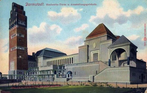 Hochzeitsturm-und-Ausstellungsgebäude,-Darmstadt